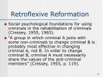 retroflexive reformation