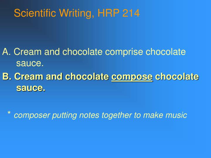 Scientific writing hrp 2141