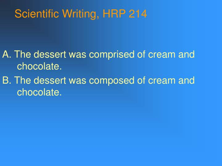 Scientific writing hrp 2142