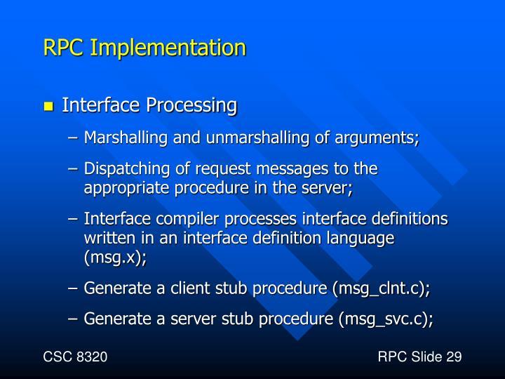 RPC Implementation