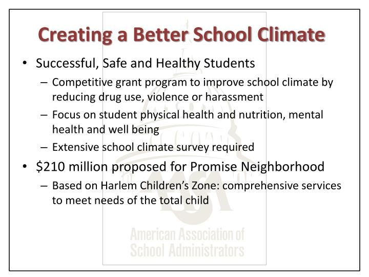 Creating a Better School Climate