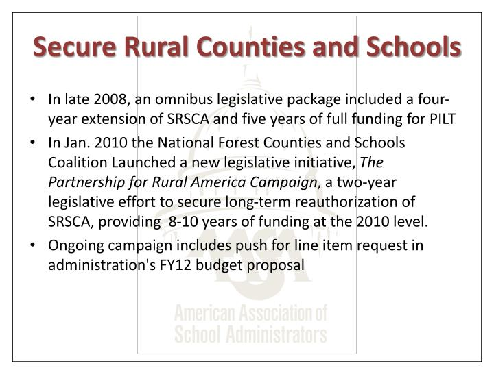 Secure Rural Counties and Schools