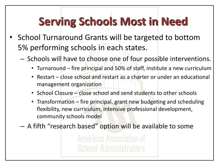 Serving Schools Most in Need