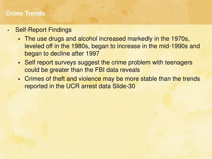 Crime Trends