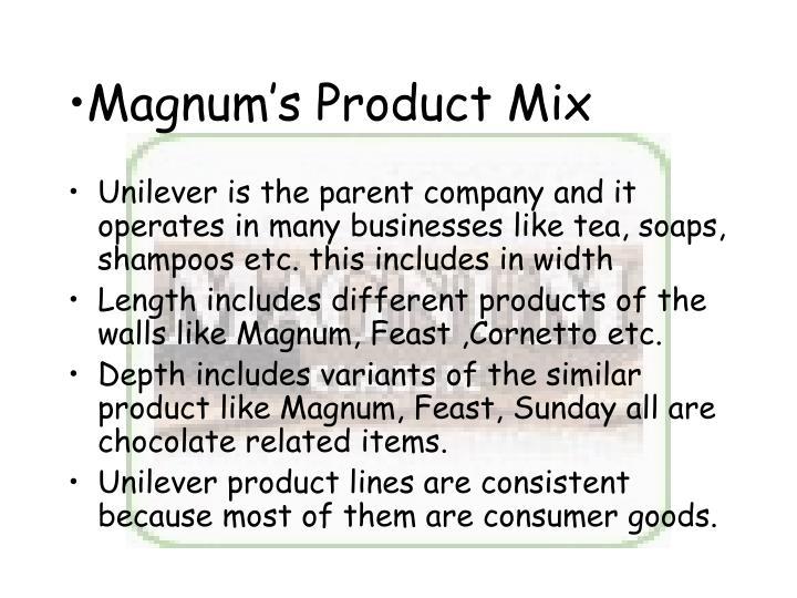 Magnum's Product Mix