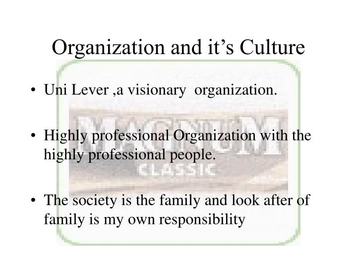 Organization and it's Culture