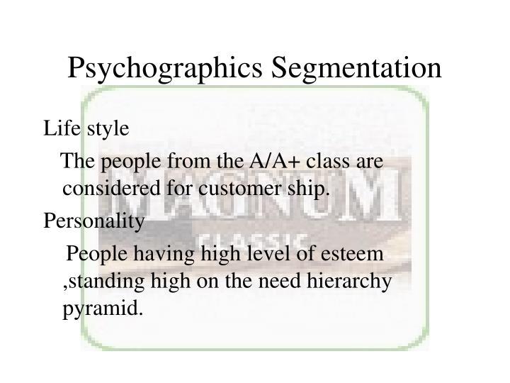 Psychographics Segmentation