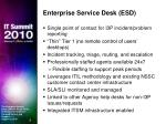 enterprise service desk esd