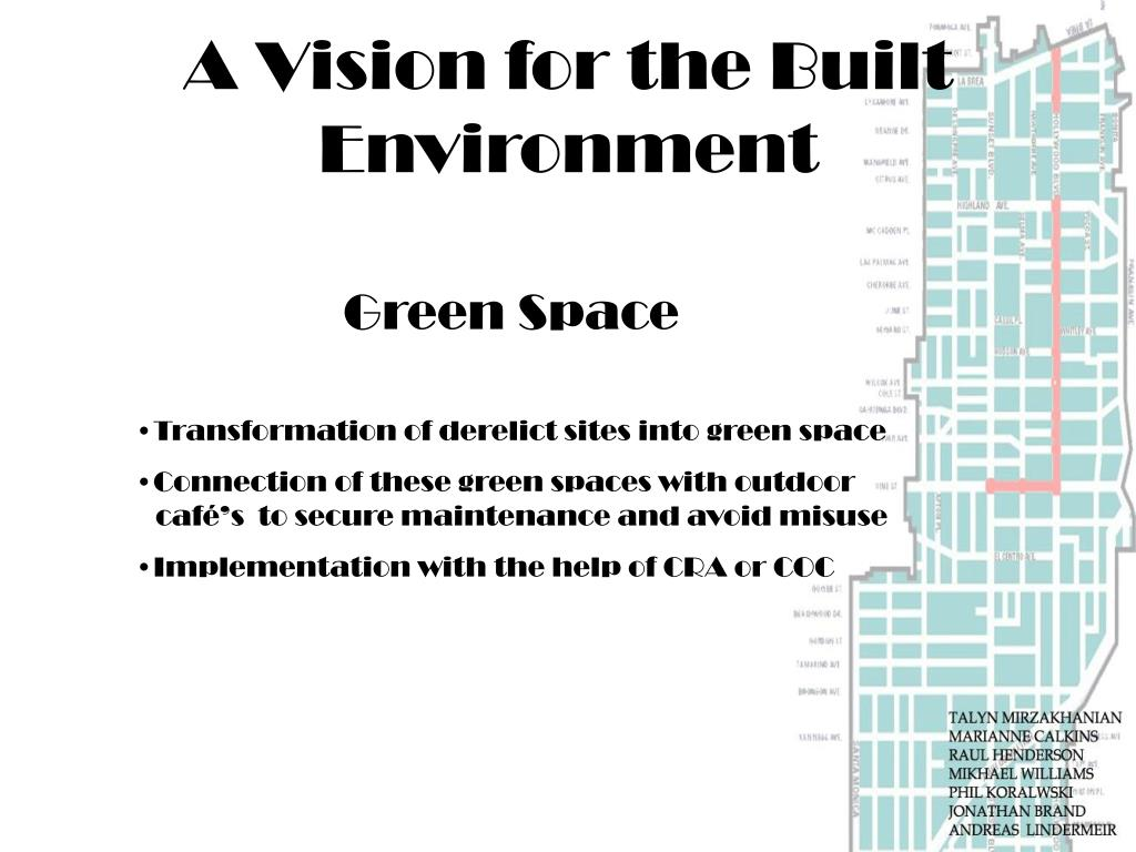 A Vision for the Built Environment