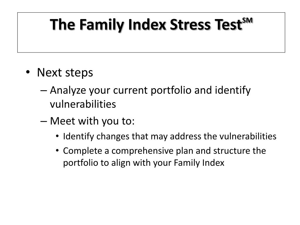 The Family Index Stress Test