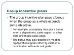 group incentive plans