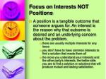 focus on interests not positions