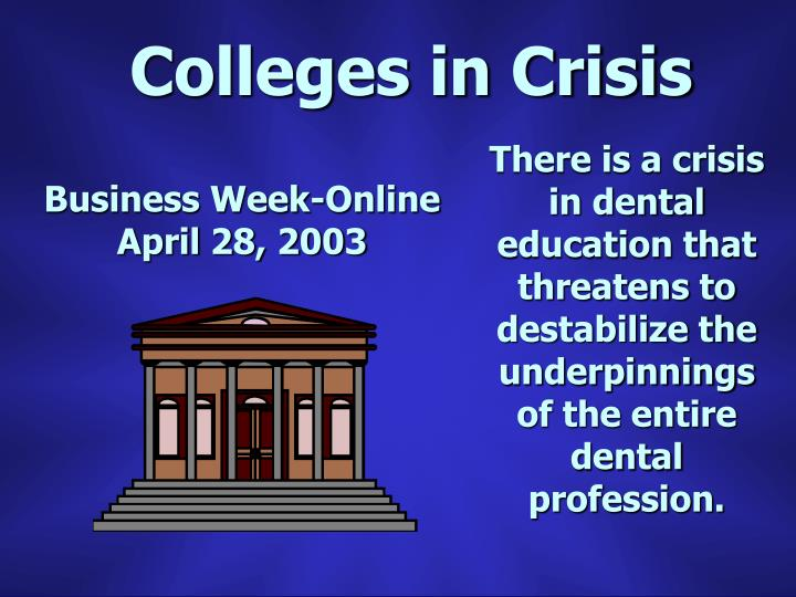 Colleges in Crisis