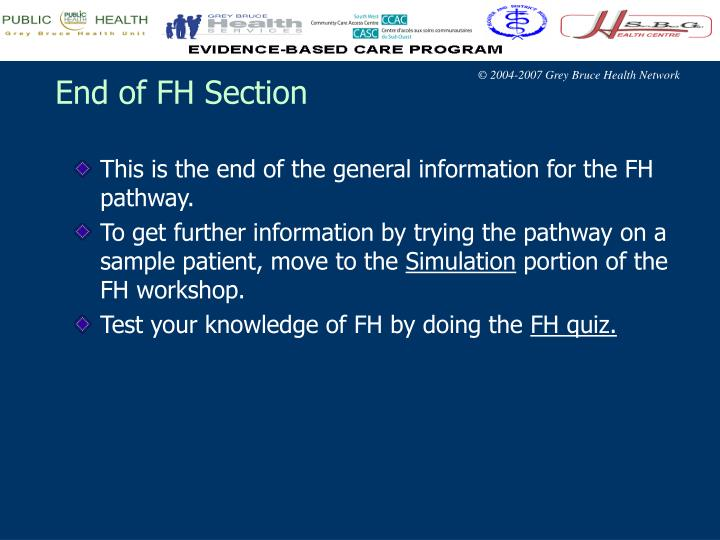 End of FH Section