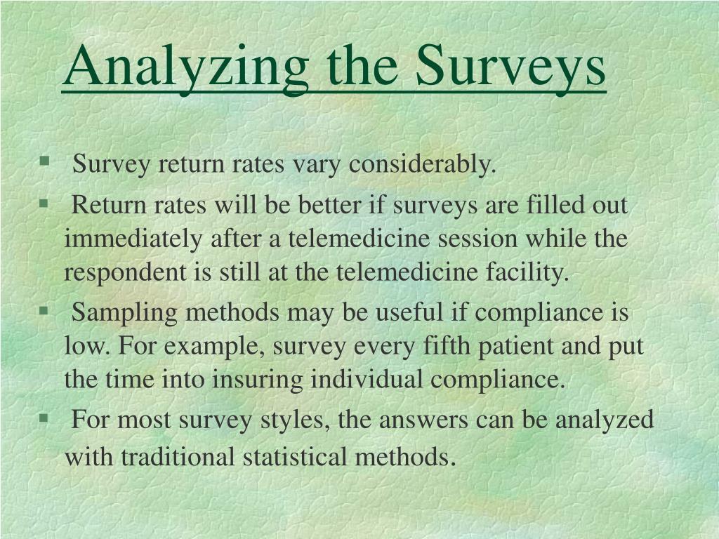 Analyzing the Surveys