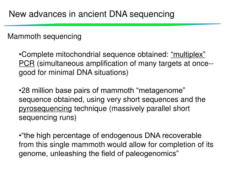 New advances in ancient DNA sequencing