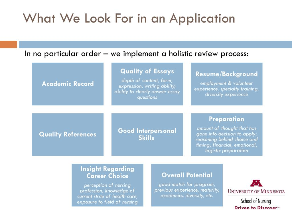 What We Look For in an Application