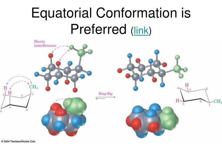 Equatorial Conformation is Preferred