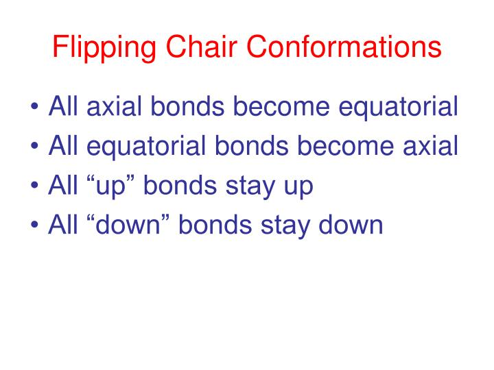 Flipping Chair Conformations