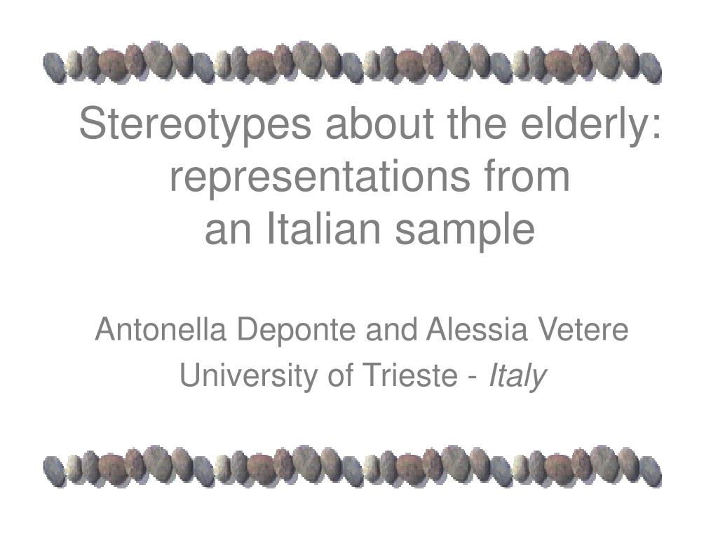 Stereotypes about the elderly: representations from