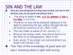 sin and the law
