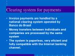 clearing system for payments