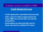 e finance services available to sme17
