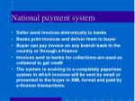 national payment system
