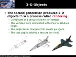 3 d objects
