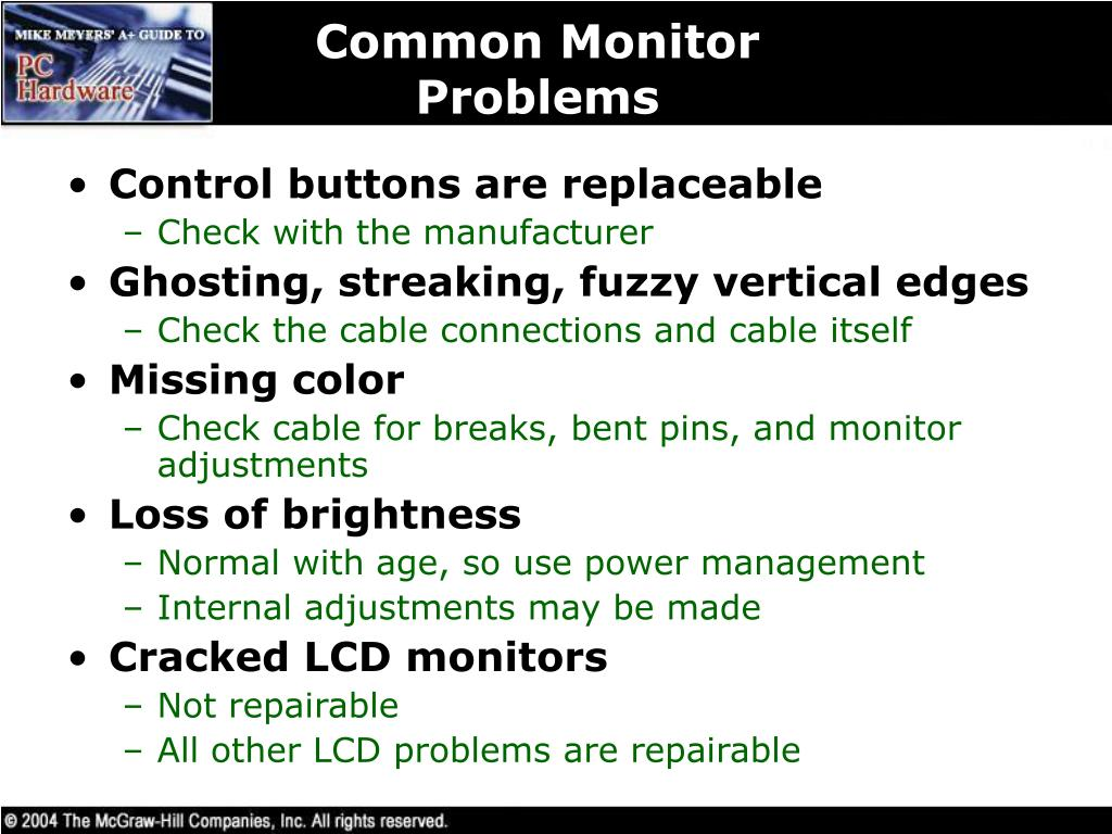 Common Monitor Problems