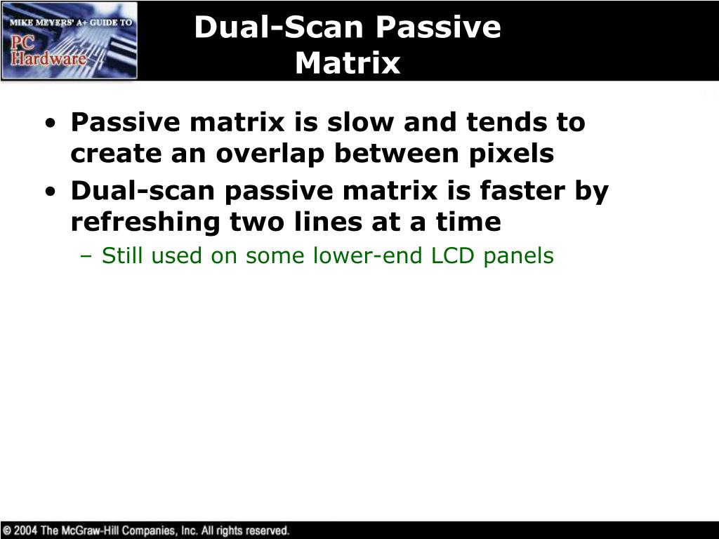 Dual-Scan Passive Matrix