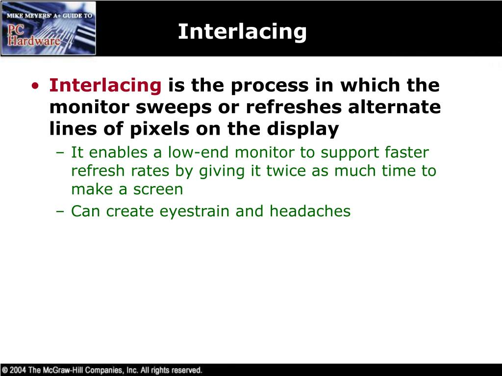 Interlacing