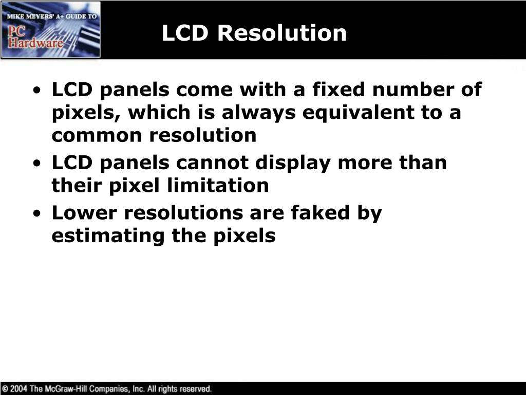 LCD Resolution