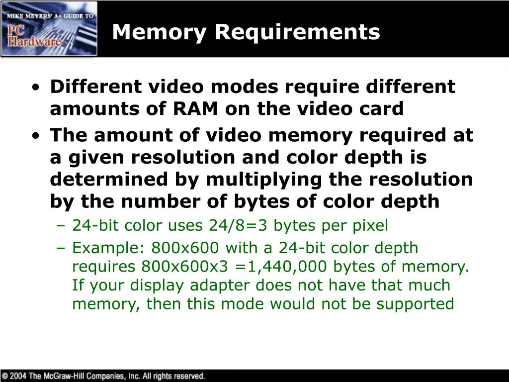 Memory Requirements