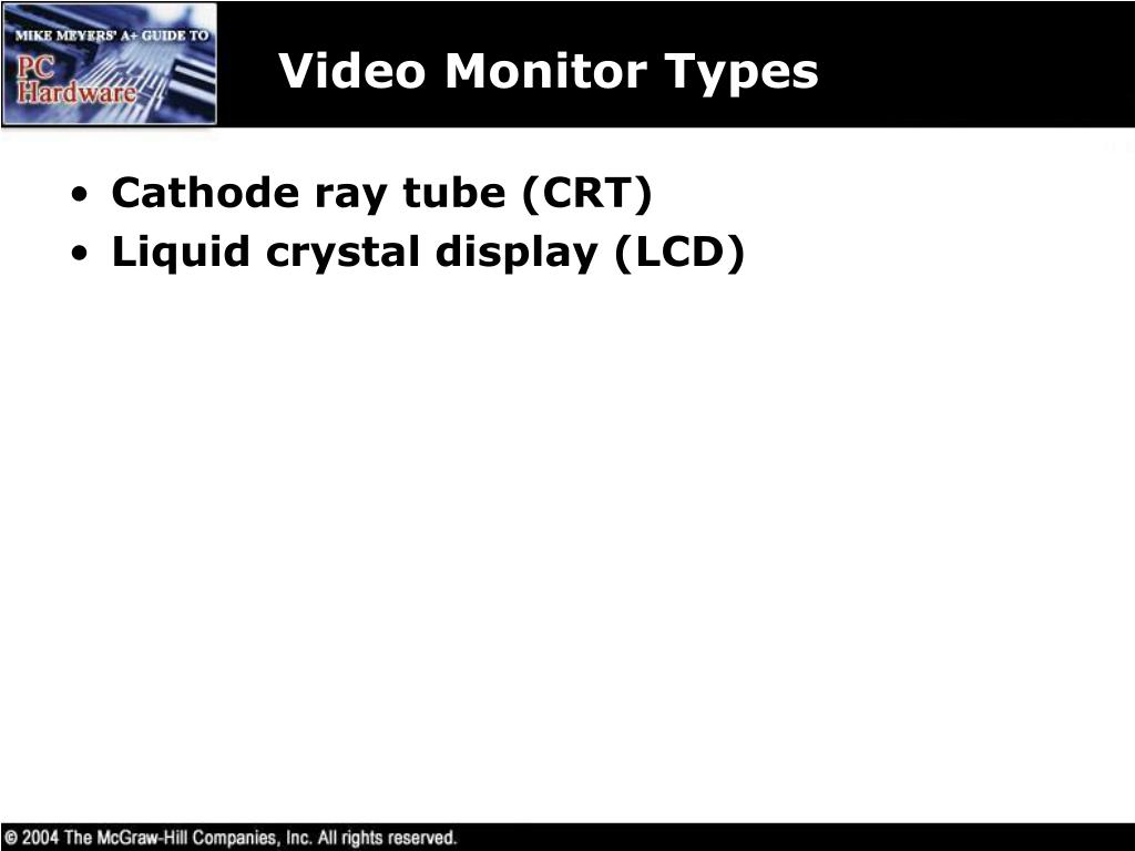 Video Monitor Types