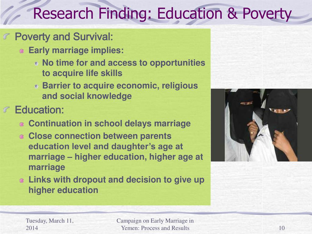 Research Finding: Education & Poverty