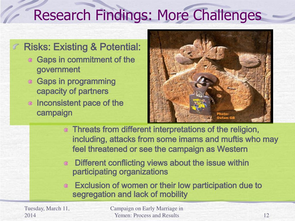 Research Findings: More Challenges