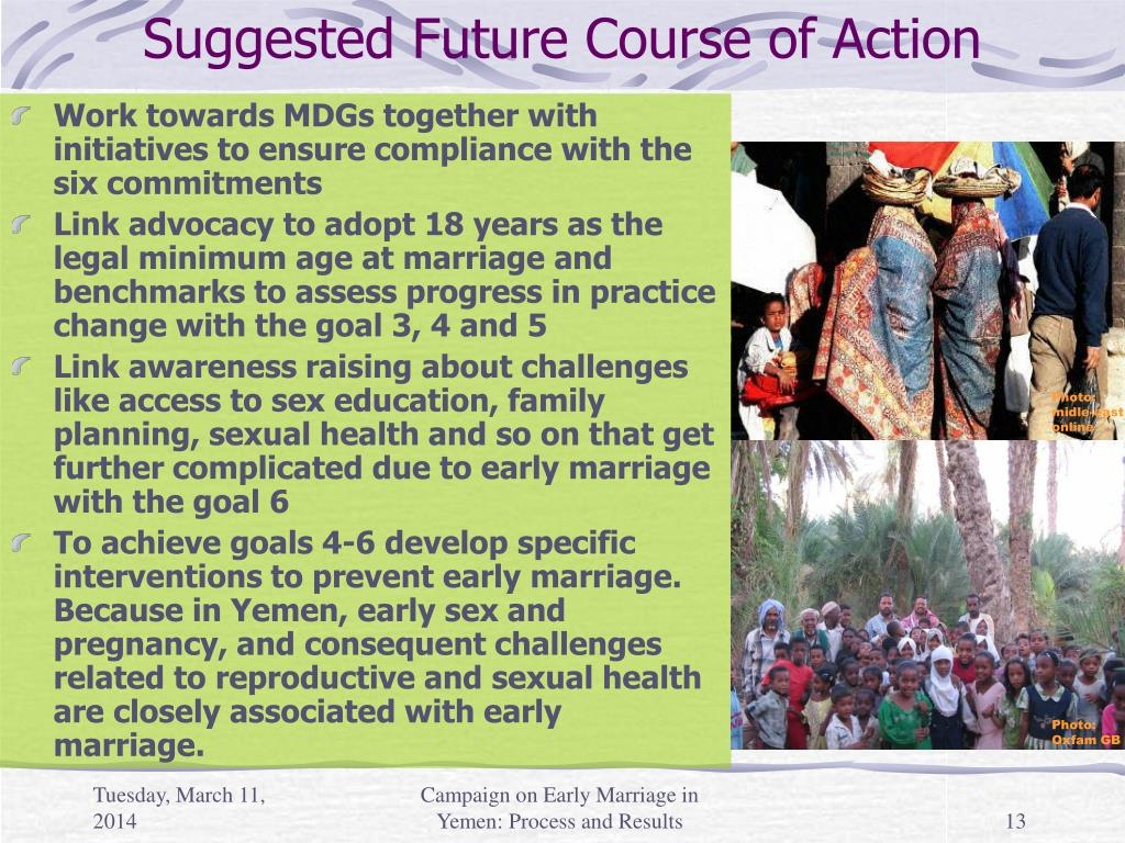 Suggested Future Course of Action
