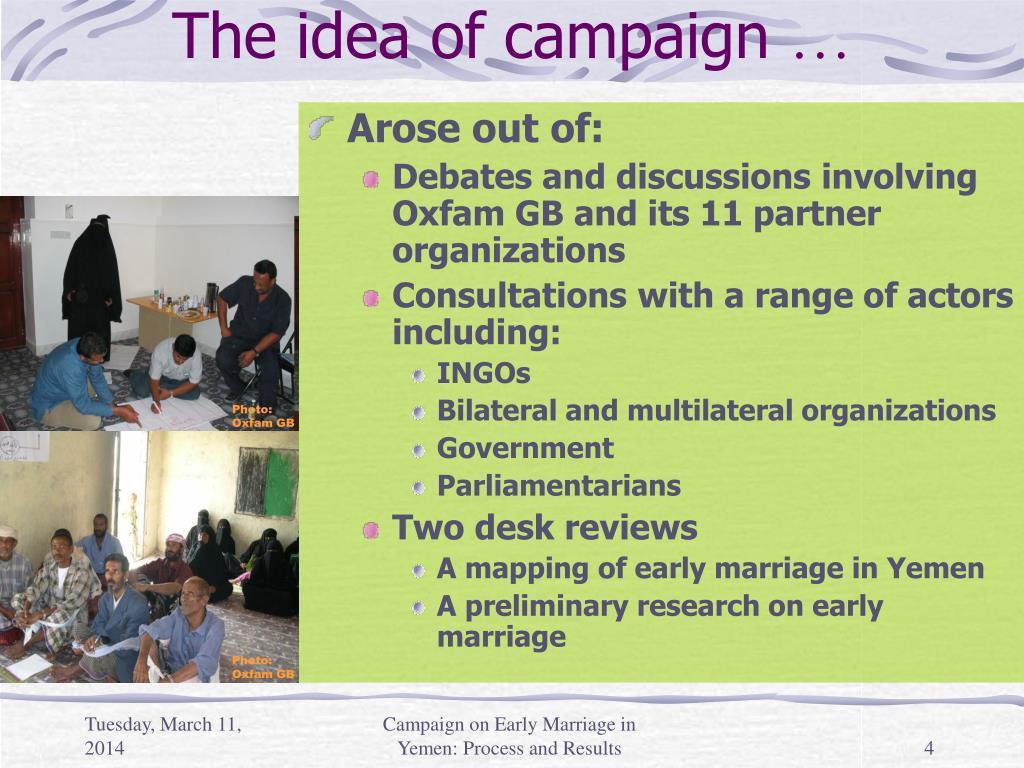 The idea of campaign