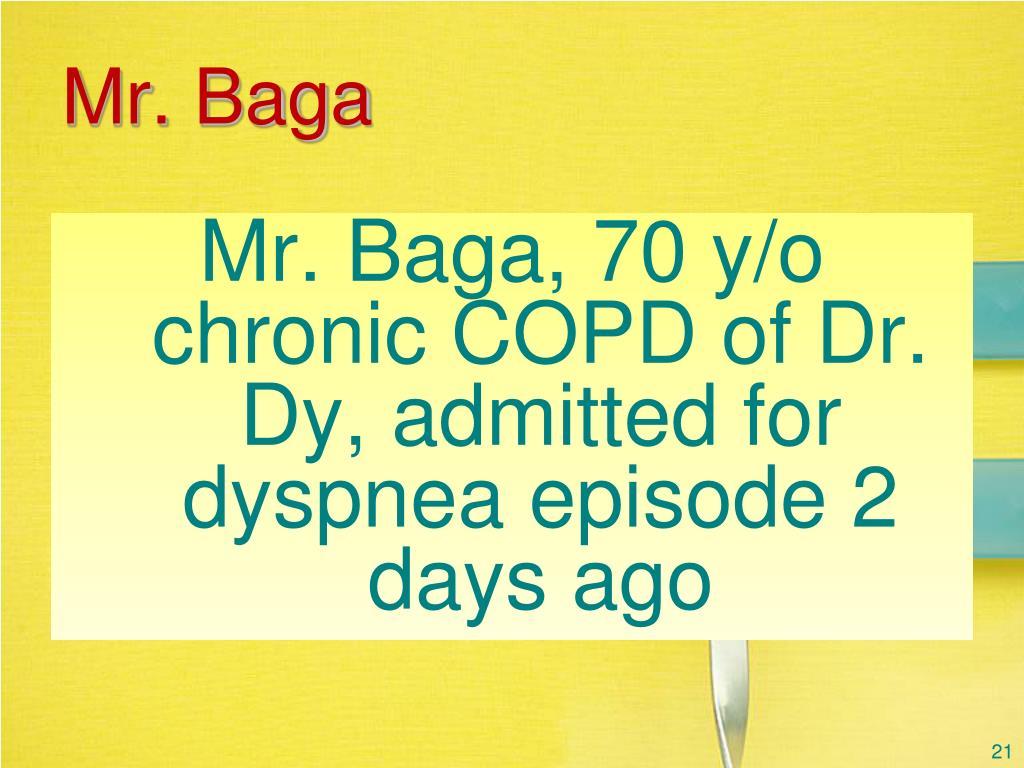 Mr. Baga