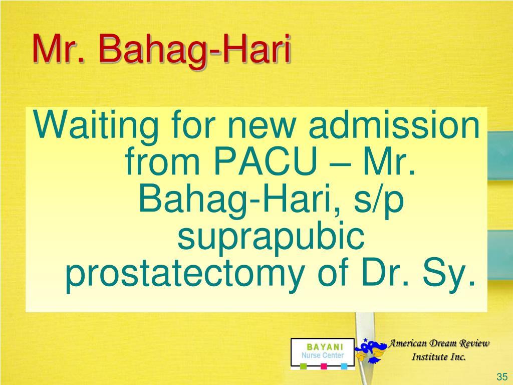 Mr. Bahag-Hari
