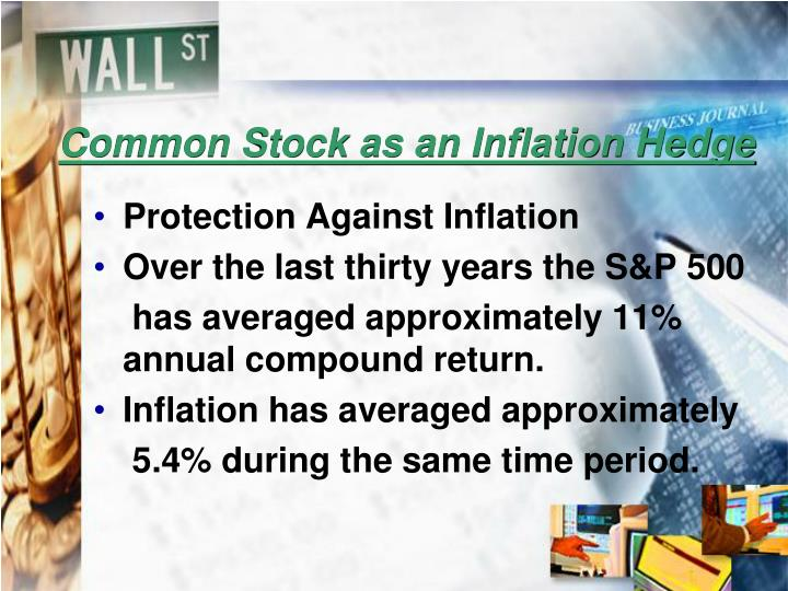Common Stock as an Inflation Hedge