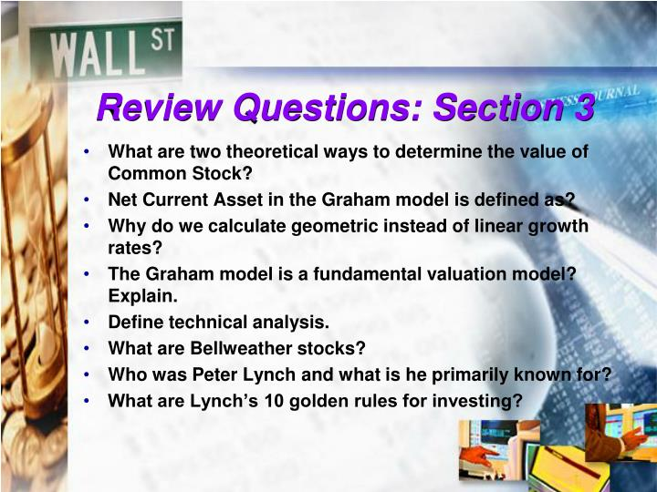 Review Questions: Section 3