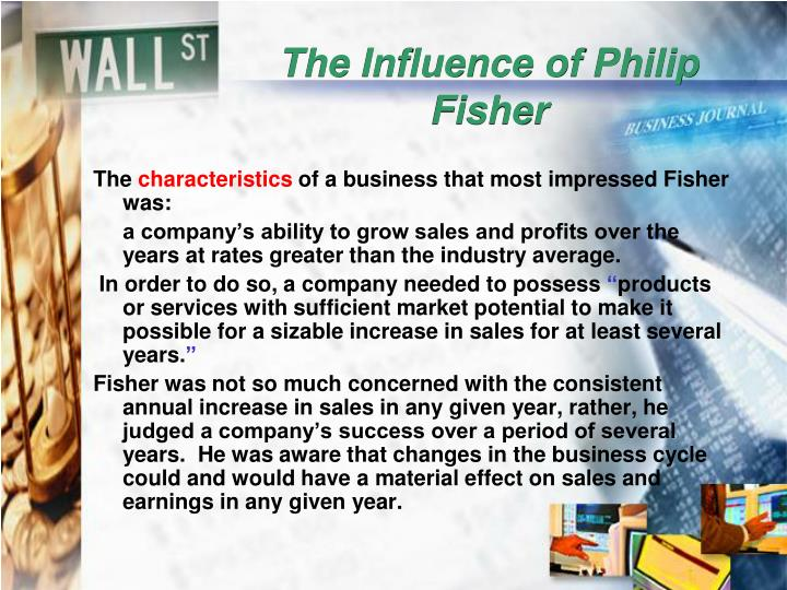 The Influence of Philip Fisher