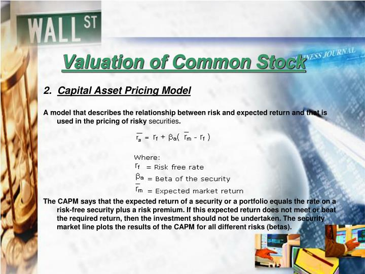Valuation of Common Stock