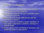 finding customers