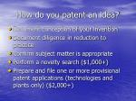 how do you patent an idea
