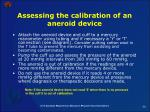 assessing the calibration of an aneroid device