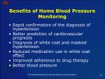 benefits of home blood pressure monitoring