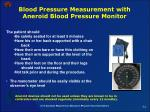 blood pressure measurement with aneroid blood pressure monitor